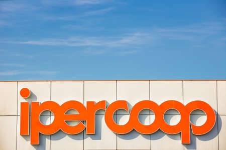 LUGO (RA), ITALY - JUNE 9, 2018: Coop Alleanza 3.0 merging of Coop Adriatica, Coop Consumatori Nordest and Coop Estense,  closed its 2017 accounts with a loss of 37,6 million euros