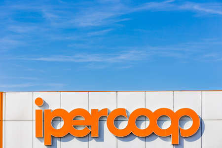 LUGO (RA), ITALY - JUNE 9, 2018: Coop Alleanza 3.0 merging of Coop Adriatica, Coop Consumatori Nordest and Coop Estense,  closed its 2017 accounts with a loss of 37,6 million euros