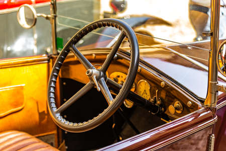 dashboard of classic vintage car
