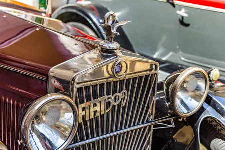 FAENZA (RA), ITALY - JUNE 9, 2018: a FIAT 509 A TORPEDO car shows in historic cars rally Autogirovagando
