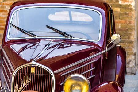 FAENZA (RA), ITALY - JUNE 9, 2018: a  car shows in historic cars rally Autogirovagando Editorial