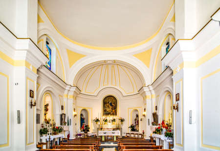 SantAngelo Ischia (NA), Italy - September 19, 2012: electric candles are lighting interiors of church