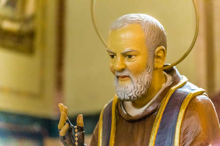 LUGO (RA), ITALY - AUGUST 2, 2018:  Saint Father Pious blessing inside Shrine of the Blessed Virgin of the mill