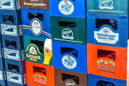 LUGO, ITALY - September 11, 2018: light enlightening beer brands on boxes