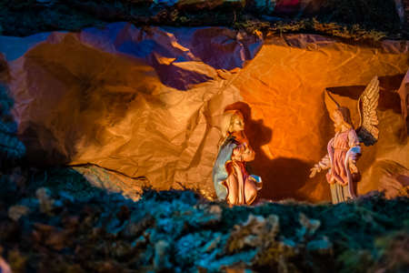 Annunciation to the Blessed Virgin Mary in Christmas Nativity Scene