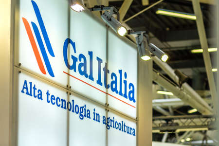 BOLOGNA, ITALY – NOVEMBER 10, 2018: light is enlightening sign at EIMA 2018,  International Agricultural and Gardening Machinery Exhibition Редакционное