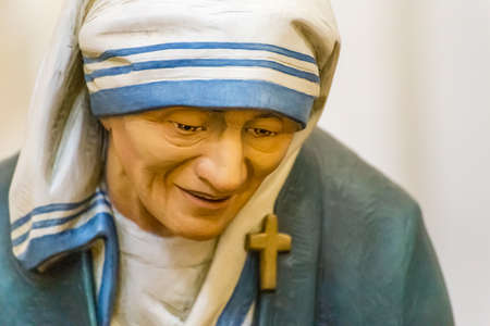 closeup of statue of Saint Mother Teresa of Calcutta Editorial