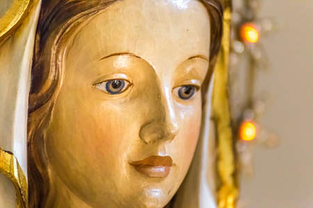 Closeup of statue of the Blessed Virgin Mary Archivio Fotografico