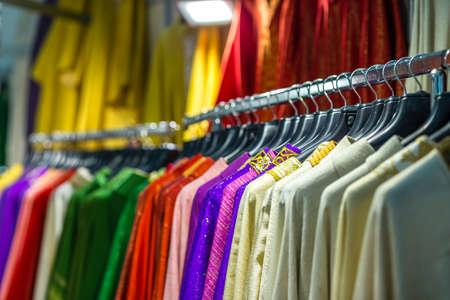 closeup of holy vestments on racks Reklamní fotografie