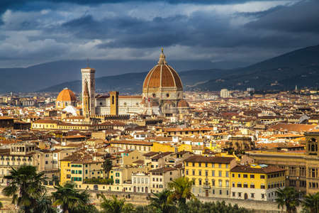 astonishing panorama of cityscape of Florence in Tuscany, Italy