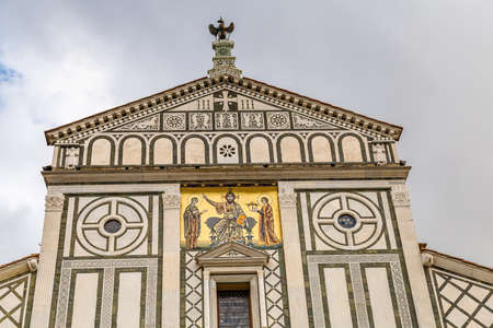 sunlight is enlightening San Miniato Church in Florence  in Tuscany, Italy