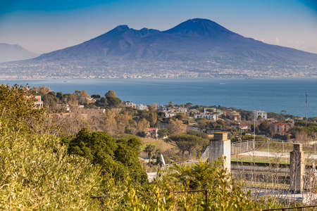 breathtaking view of the gulf of Naples in Italy