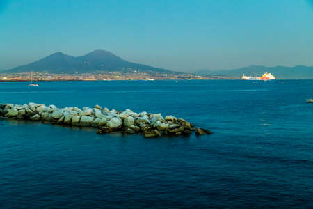 view of the Vesuve Volcan on the Gulf of Naples
