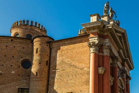 PADOVA, ITALY - FEBRUARY 23, 2019: sunlight is enlightening  Church of Virginis Dolentis in Padua Banco de Imagens
