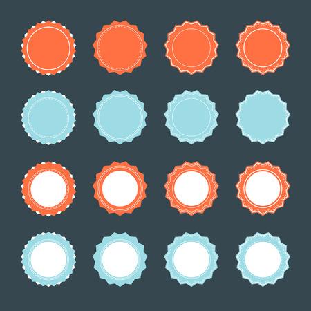 badge banner flat design set Illustration