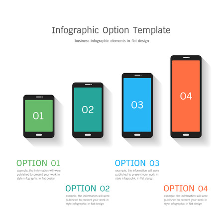 versions: infographic option template in flat design Illustration