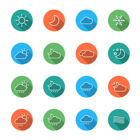 icons: Weather Icons Illustration