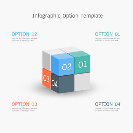 versions: infographic option template Illustration