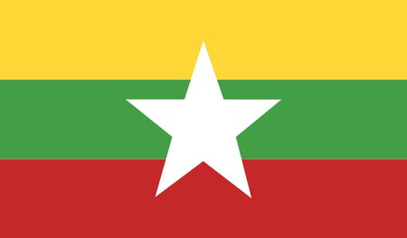 burmese: Burma flag Illustration