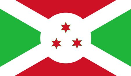 afrika: Burundi Flag Illustration