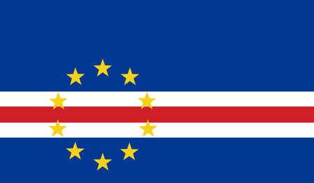 cape: Cape Verde Flag Illustration