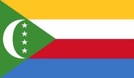 comores: Comoros Flag Illustration