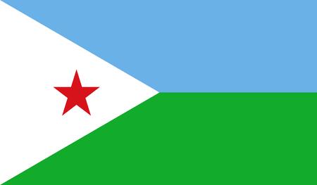 djibouti: Djibouti Flag Illustration