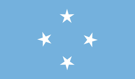 federated: Federated States of Micronesia Flag Illustration