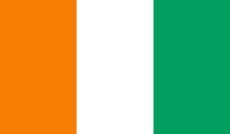 ivory: Ivory Coast flag Illustration