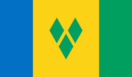 grenadines: Saint Vincent and the Grenadines Flag