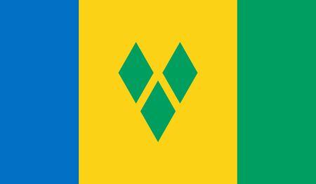 Saint Vincent en de Grenadines Vlag Stock Illustratie