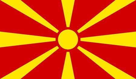 Macedonia Flag Illustration