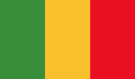mali: Mali Flag Illustration