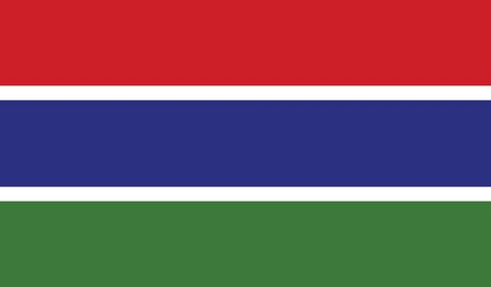 gambia: The Gambia Flag Illustration