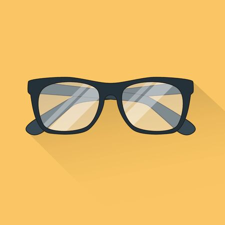glasses icon: vector glasses icon flat style