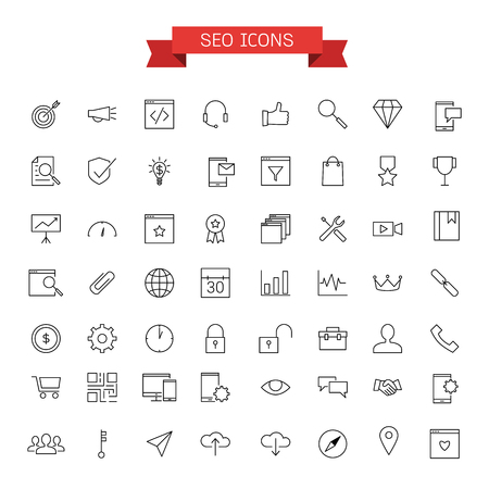 response time: seo icons Illustration