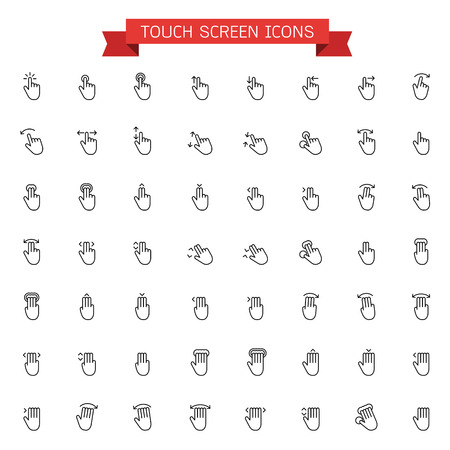 touch: Touch screen icons