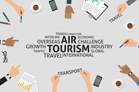 interlink: vector air tourism concept,template Illustration