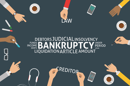 periods: vector bankruptcy concept,template