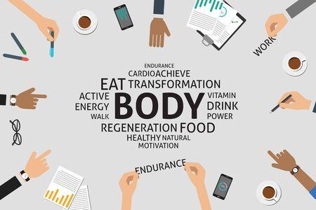 regeneration: vector body concept,template