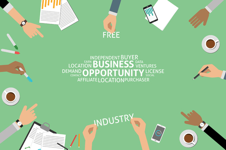 opportunity concept: vector business opportunity concept,template