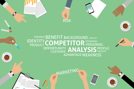 potential: vector competitor analysis concept,template Illustration