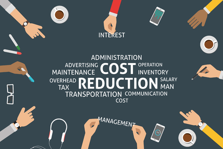 cost reduction: vector cost reduction concept,template