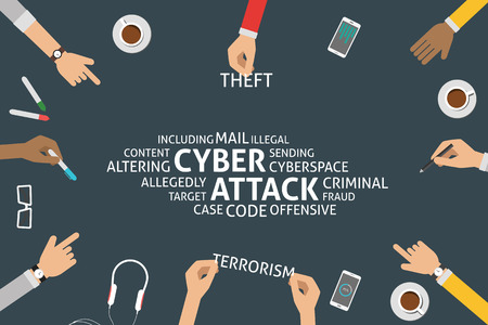 allegedly: vector cyber attack concept,template Illustration