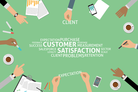 retention: vector customer satisfaction concept,template Illustration