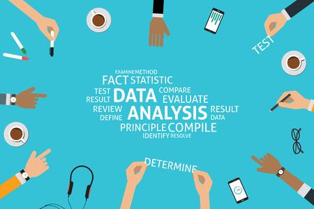 define: vector data analysis concept,template Illustration