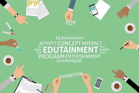 edutainment: vector edutainment concept,template