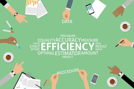 vettore concetto di efficienza, modello