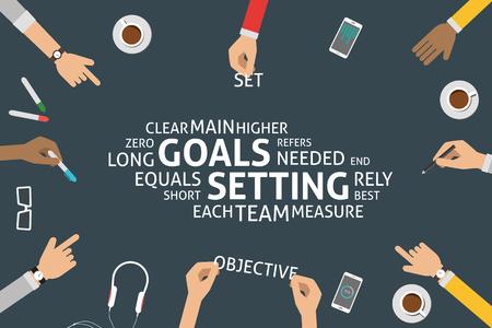 main idea: vector goals setting concept,template