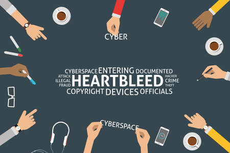 documented: vector heartbleed concept,template Illustration
